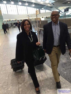 Photos: Ex Governor, Peter Obi And Wife Spotted At Heathrow Airport, London